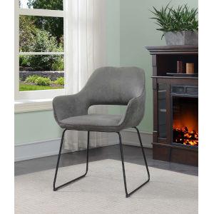Samantha Antique Gray Black Accent Chair
