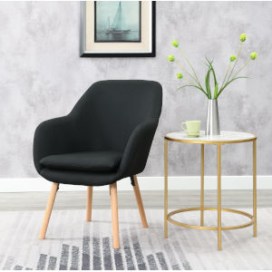 Charlotte Black Accent Chair