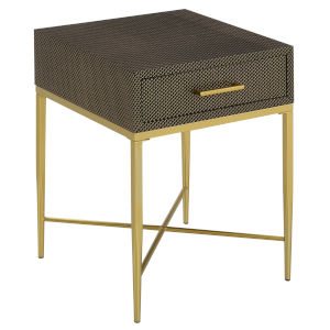 Ashley Black Scallop and Gold 24-Inch End Table