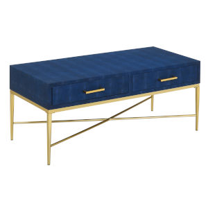 Ashley Blue and Gold 18-Inch  Coffee Table