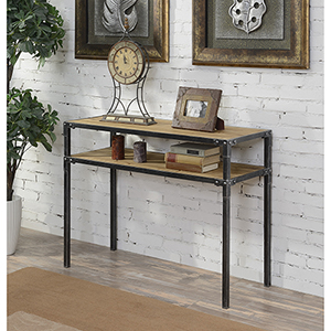 Laredo Black Two Tier Console Table