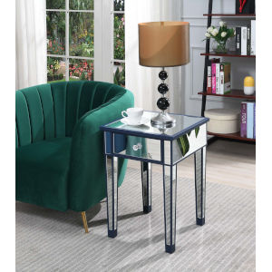 Gold Coast Cobalt Blue with Mirror 18-Inch End Table with Drawer
