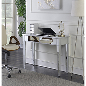 Gold Coast Silver Mirrored Desk Vanity