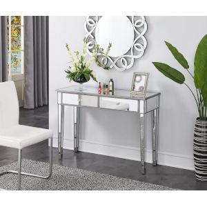 Gold Coast Antique Silver Mirrored Desk Vanity