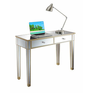 Gold Coast Champagne Mirror Mirrored Desk