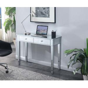 Gold Coast Silver Faux Croc Mirrored Desk Vanity