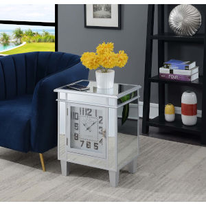 Gold Coast Silver 13-Inch Clock End Table