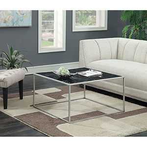 Gold Coast Black Faux Marble Coffee Table