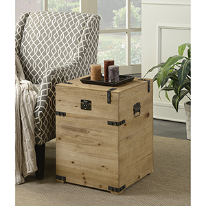 Laredo Natural Trunk End Table