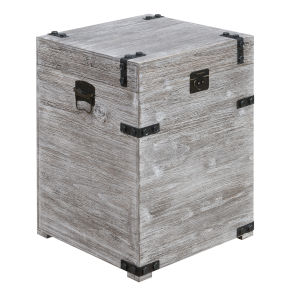 Laredo Weathered Gray Trunk End Table