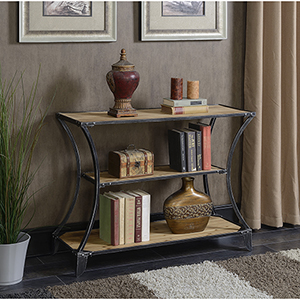 Laredo Black Three Tier Console Bookcase