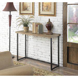 Laredo Black Parquet Console Table