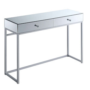 Reflections Silver MDF Console Table with Mirror Top