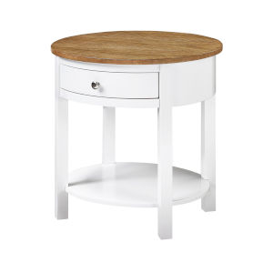 Classic Accents Driftwood White Cypress End Table