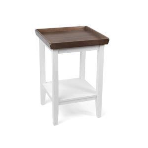 Ledgewood Driftwood White End Table