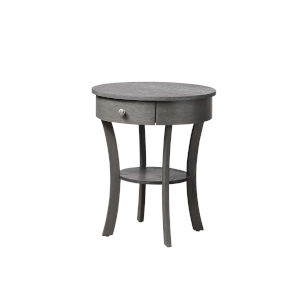 Classic Accents Dark Gray Wirebrush MDF End Table