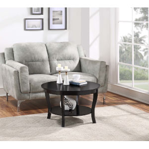 American Heritage Black 30-Inch Round Coffee Table