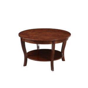 American Heritage Espresso MDF Round Coffee Table