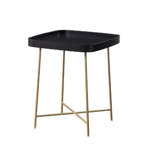 Lunar Black and Gold End Table