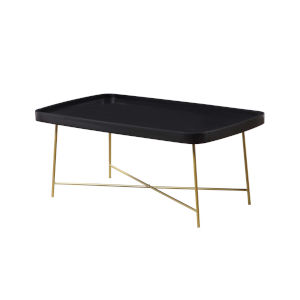 Lunar Black and Gold Coffee Table