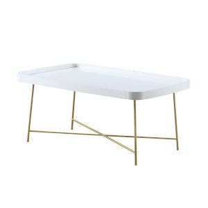 Lunar White and Gold Coffee Table