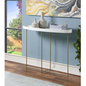 Lunar White and Gold Console Table