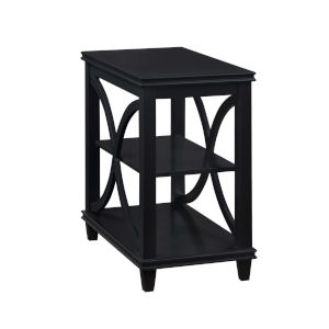 Florence Black 25-Inch Chairside Table