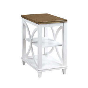 Florence Driftwood and White 25-Inch Chairside Table