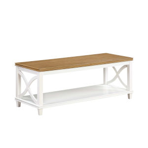 Florence Driftwood and White 18-Inch Coffee Table