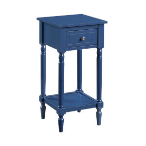 French Country Cobalt Blue 28-Inch Khloe Accent Table