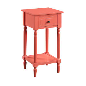 French Country Coral 28-Inch Khloe Accent Table