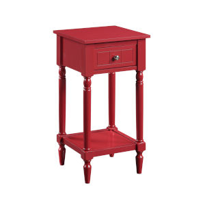 French Country Cranberry Red 28-Inch Khloe Accent Table
