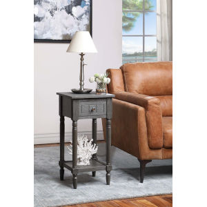 French Country Dark Gray Wirebrush Khloe Accent Table