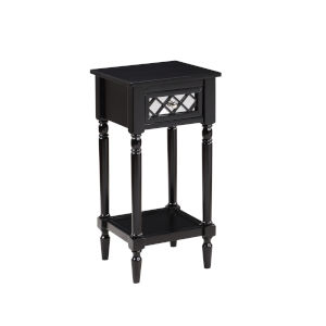 French Country Black Khloe Accent Table