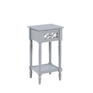French Country Gray Khloe Accent Table