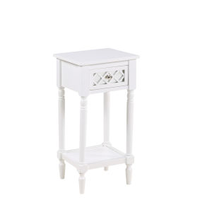 French Country White Khloe Accent Table