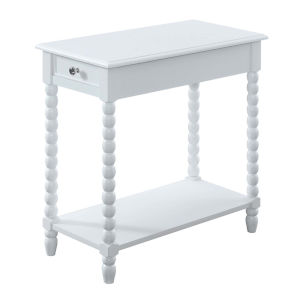 Michelle White Chairside Table