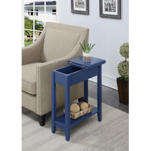American Heritage Cobalt Blue Flip Top End Table