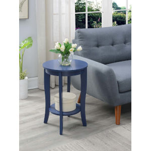 American Heritage Cobalt Blue 18-Inch Round End Table