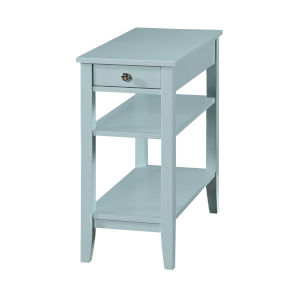 American Heritage Sea Foam End Table With Drawer