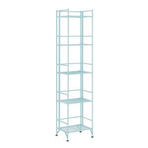 Xtra Storage Seafoam 11-Inch Five-Tier Folding Metal Shelf