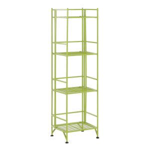 Xtra Storage Lime Four-Tier Folding Metal Shelf