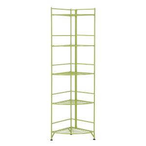 Xtra Storage Lime 14-Inch Five-Tier Folding Metal Shelf