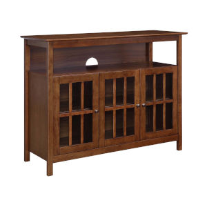 Big Sur Dark Walnut 48-Inch TV Stand with Storage Cabinets and Shelf
