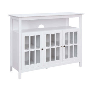 Big Sur White 48-Inch TV Stand with Storage Cabinets and Shelf