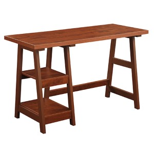 Designs2go Cherry Trestle Desk