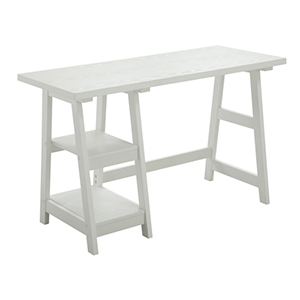 Designs2Go White Trestle Desk