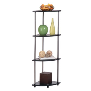 Designs2Go Black Four-Tier Corner Shelf