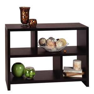Northfield Black 38-Inch Bookcase Console Shelf
