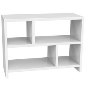 Northfield White Bookend Console